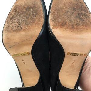 Cole Haan Shoes - Cole Haan Nike Air Black Suede Heels ~ Size 6B